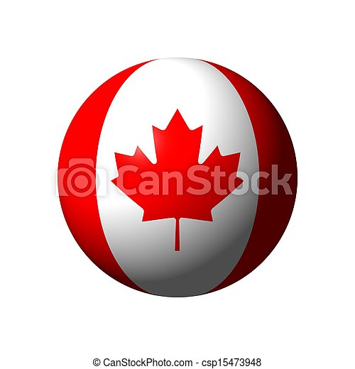 Sphere with flag of Canada - csp15473948