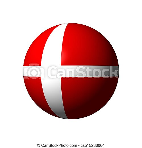 Sphere with flag of Denmark - csp15288064