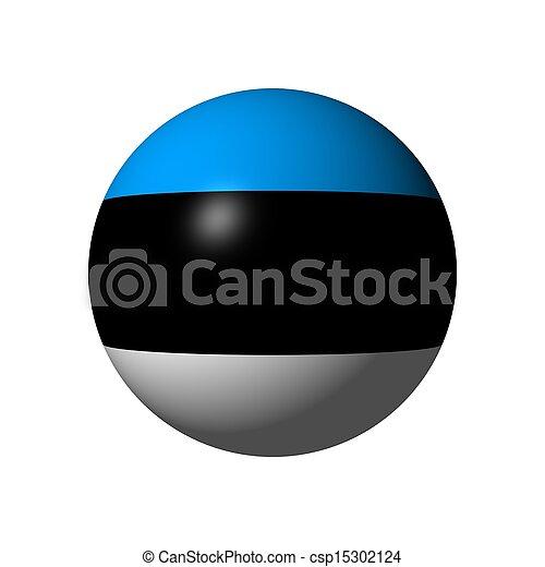 Sphere with flag of Estonia - csp15302124