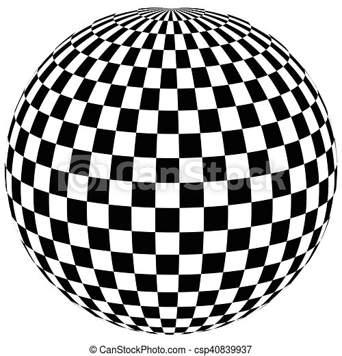 sphere with squares the ball with a square pattern on the vectors rh canstockphoto com vector sphere equation vector sphere illustrator