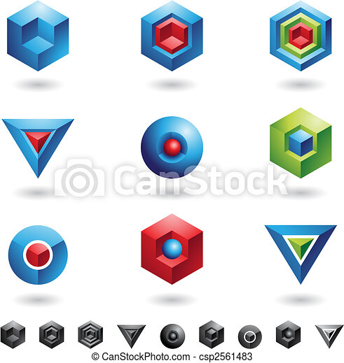 Spheres, Cubes, triangles - csp2561483
