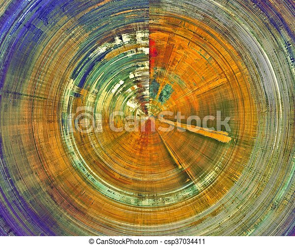 Spherical abstract grunge weathered background of vintage texture. With different color patterns: yellow (beige); brown; green; blue; red (orange) - csp37034411