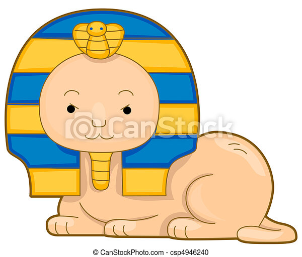 illustration of a cute sphinx smiling contentedly rh canstockphoto com sphinx clipart images sphinx clipart images