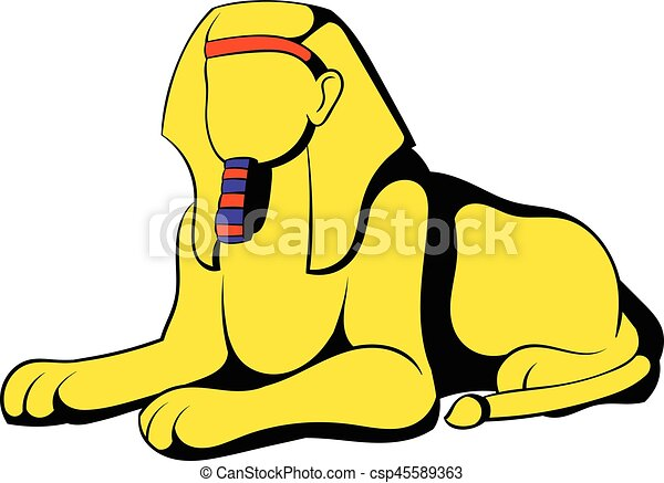 sphinx icon cartoon sphinx icon in cartoon style isolated vector rh canstockphoto com sphinx clipart images egyptian sphinx clipart
