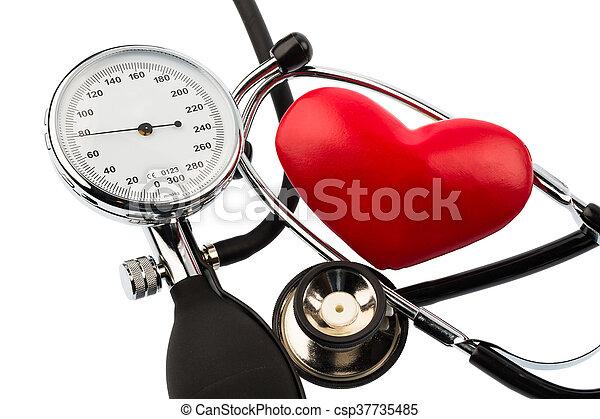 sphygmomanometer and heart - csp37735485