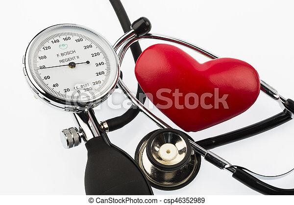 sphygmomanometer and heart - csp46352989