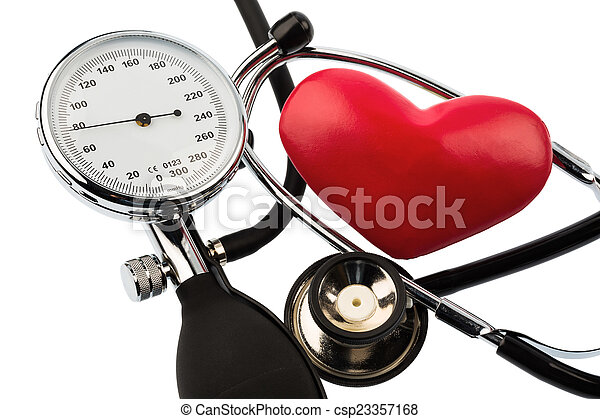 sphygmomanometer and heart - csp23357168
