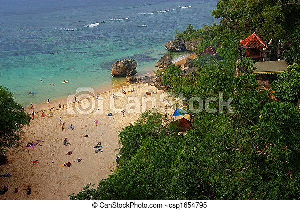 spiaggia, bali, pittoresco - csp1654795