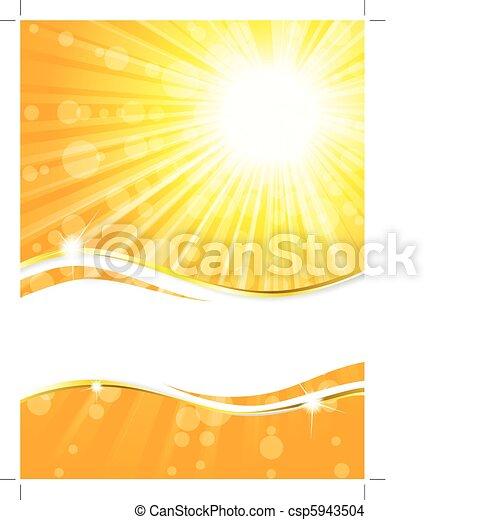 spiaggia, bandiera, estate - csp5943504