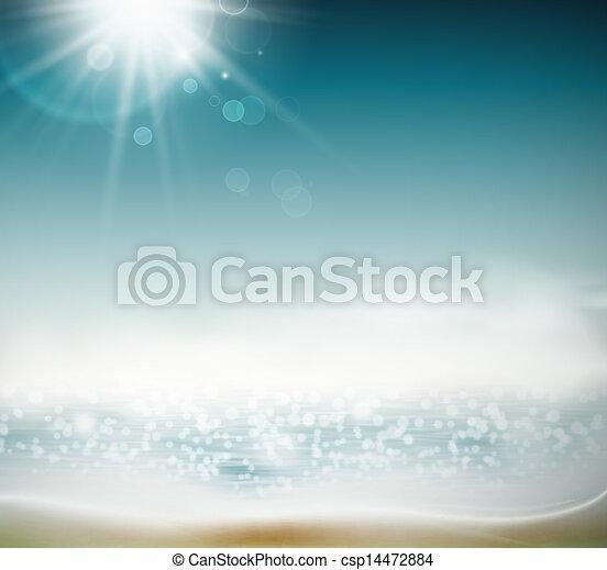 spiaggia, fondo - csp14472884