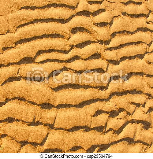 spiaggia, primo piano, fondo, tessuto sabbia - csp23504794