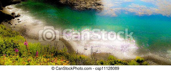 spiaggia, punto, muschio, bello, lobos - csp11128089