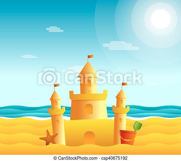 spiaggia sabbia, castello - csp40675192