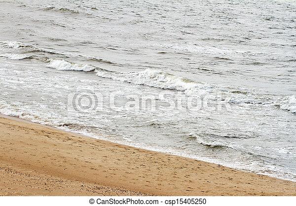 spiaggia sabbia, onde - csp15405250