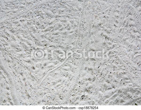 spiaggia sabbia, struttura, fondo - csp18878254