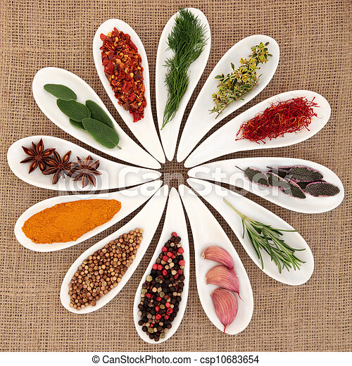 Spice and Herb Selection - csp10683654