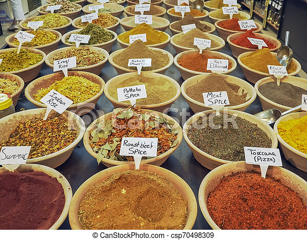 spice market in the old city of jerusalem - csp70498309