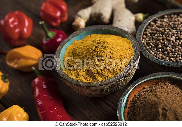 Spice Still Life, wooden bowl - csp52525012