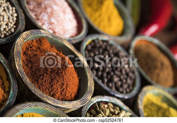 Spice Still Life, wooden bowl - csp52524761
