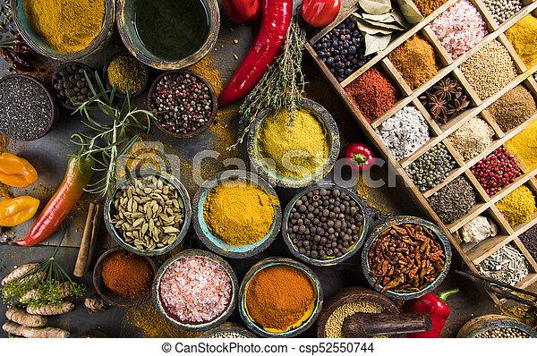 Spice Still Life, wooden bowl - csp52550744