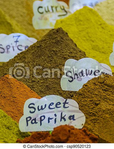 Spices at Street Market, Old Jerusalem - csp90520123