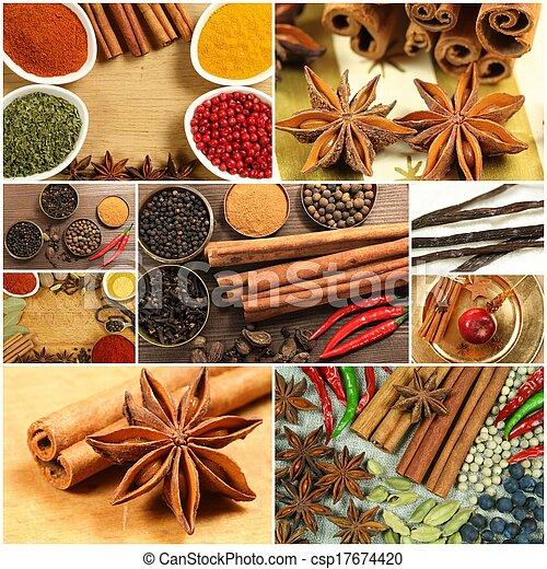 Spices collage - csp17674420