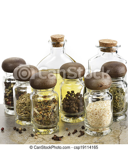 Spices Cooking Oil And Vinegar - csp19114165