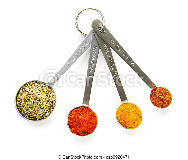 Spices in measuring spoons - csp0920471