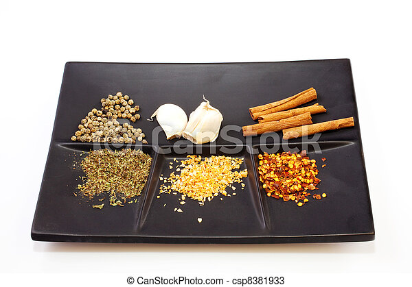 Spices on a saucer - csp8381933