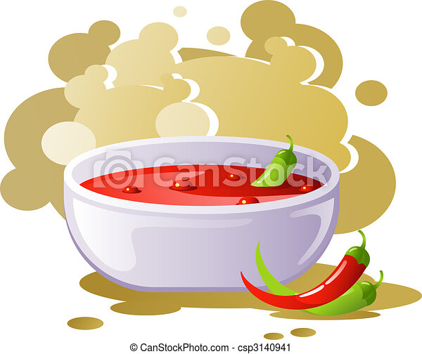 Spicy chili soup - csp3140941