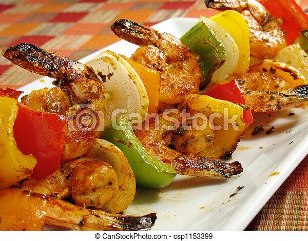 Spicy Shrimp Kabobs - csp1153399
