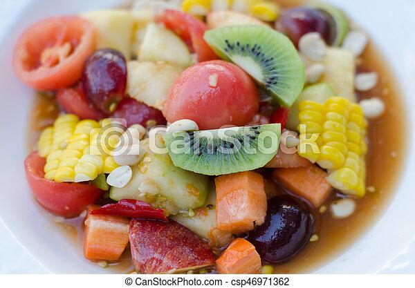 Spicy Thai Mixed Fruit Salad - csp46971362