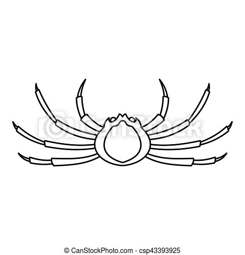 Spider crab icon outline style spider crab icon outline - Spider outline clip art ...