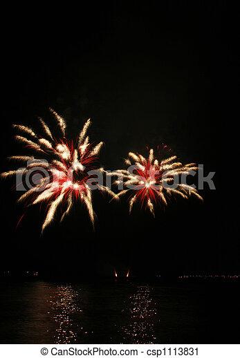 spider-like fireworks - csp1113831