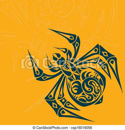 Spider Tribal Tattoo - csp16016056