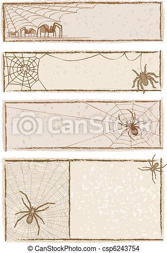 Spider Web Banners - csp6243754