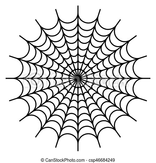 spider web cobweb vector on white background illustration image rh canstockphoto com spider web vector free download vector spider web border