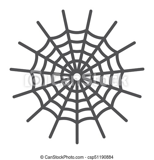 spider web line icon halloween and scary cobweb sign vector rh canstockphoto co uk Spider Web Clip Art cobweb spider clipart