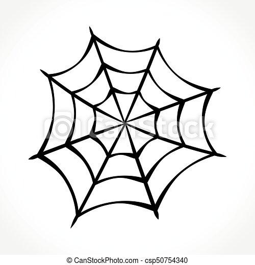 Illustration Of Spider Web On White Background
