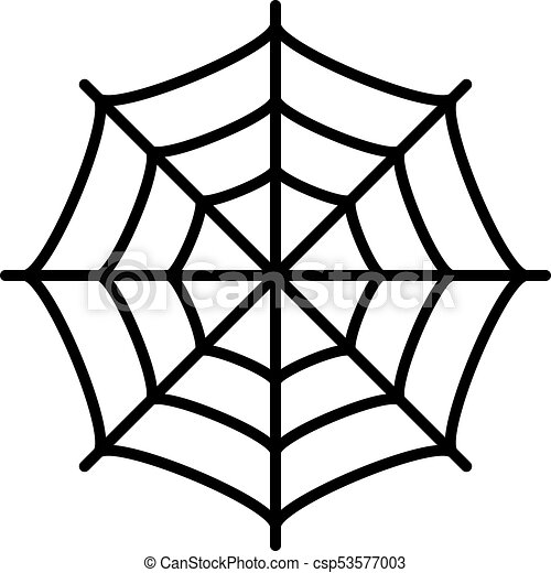 spider web vector icon isolated on white background vector clipart rh canstockphoto com spider web vector image spider web vector png