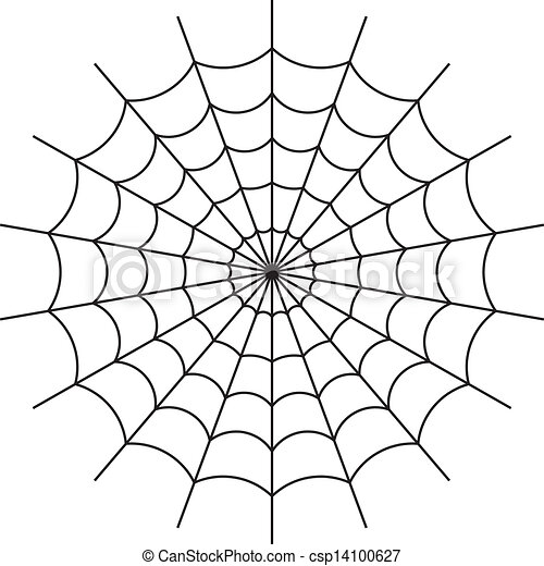 Spider web vector. Vector illustration of cobweb isolate ... Vector Spider Web Design