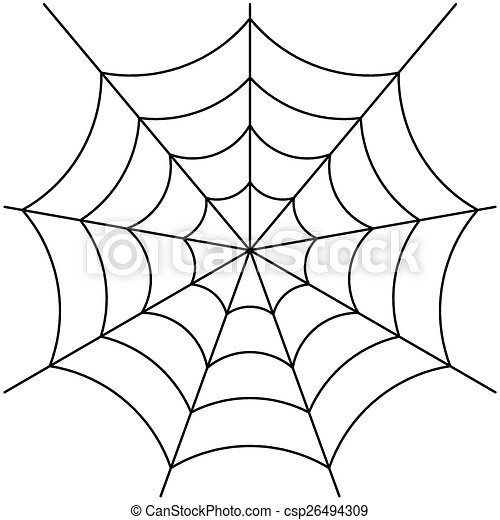 spider web vector image of spider web isolated on white vector rh canstockphoto com spider web free vector spider web vector corner