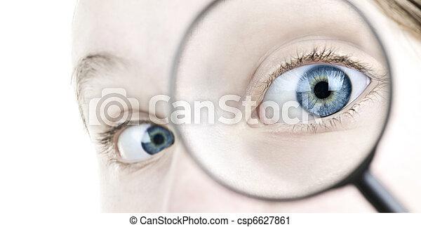 Spiegel Auge Vergrossern Grundlich Blaues Auge Auf Spiegel