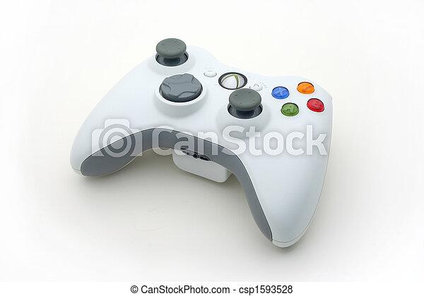 spiel, weißes, video, controller - csp1593528