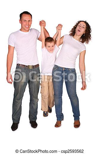 Familie von drei Stücken - csp2593562