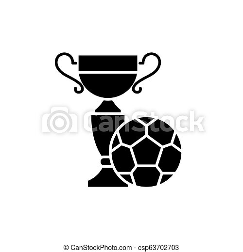 Spielen Begriff Feld Fussball Freigestellt Abbildung Zeichen Hintergrund Vektor Schwarz Ikone Symbol
