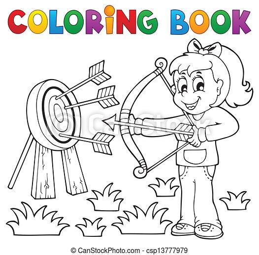 Spielen, färbung, kinder, 3, thema, buch. Spielen, färbung ...