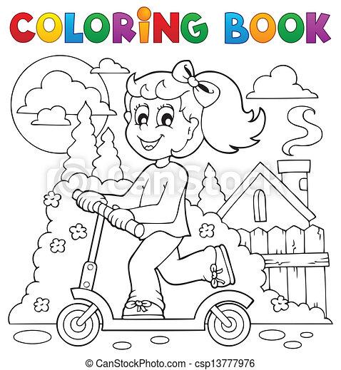 Spielen, färbung, kinder, thema, 2, buch. Spielen, färbung ...