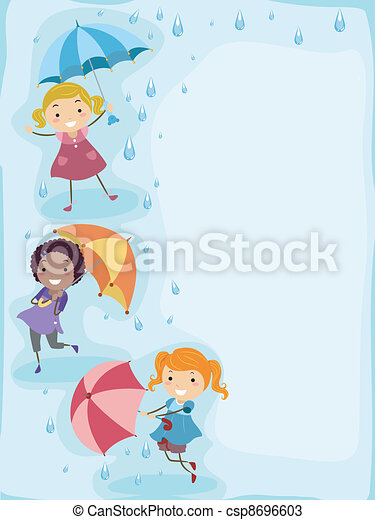 Im Regen spielen - csp8696603