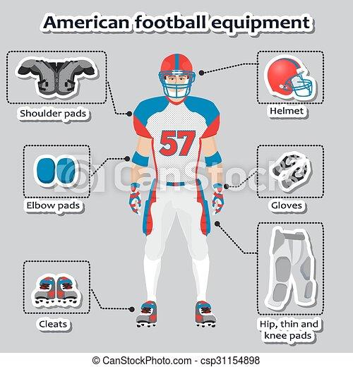 Spieler Amerikanische Fussball Ausrustung Training